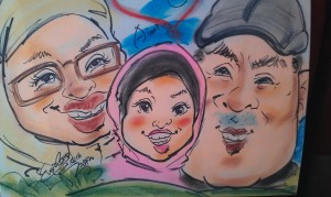 Caricature drawing by Korean Artist